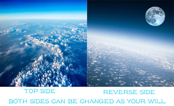 Cloud Duvet Cover Set Reversible Design Sky and Moon Duvet Cover Set