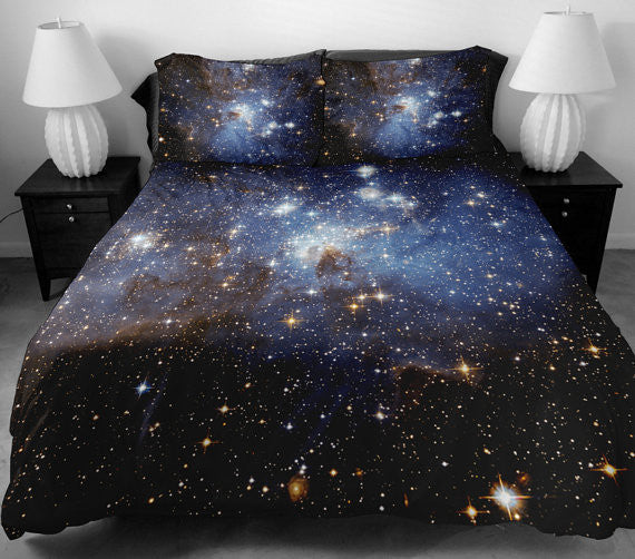 Anoleu Galaxy Duvet Cover Set Any Sizes With 2 Matching
