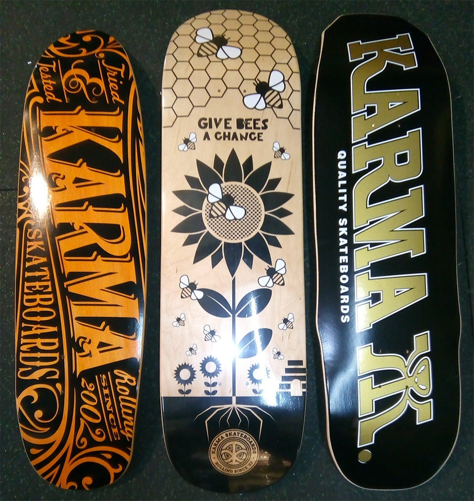 Karma Skateboards custom shapes