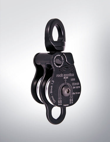 "Rock Exotica Omni-Block 1.5"" Pulley - Double Black"
