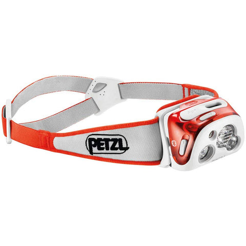 PETZL - REACTIK+ Headlamp, 300 Lumens, Bluetooth Enabled, Coral
