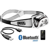 PETZL - REACTIK+ Headlamp, 300 Lumens, Bluetooth Enabled, Black