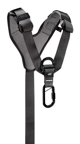 PETZL - TOP, Chest Harness for Seat Harness, Black