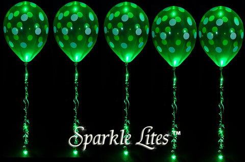 Green LED Sparkle Walkers (1 count)