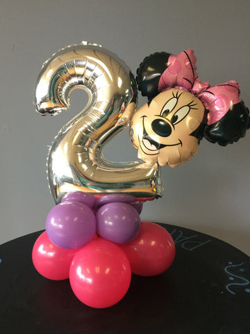 Mickey or Minnie Mouse Age Specific Table Top Centerpiece.
