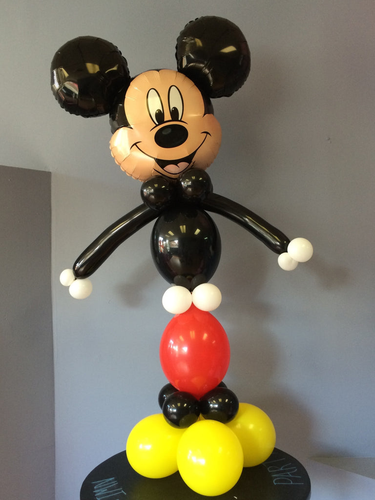 Mickey Mouse Balloon Tower DIY kit comes with balloons, instructions and video tutorial.