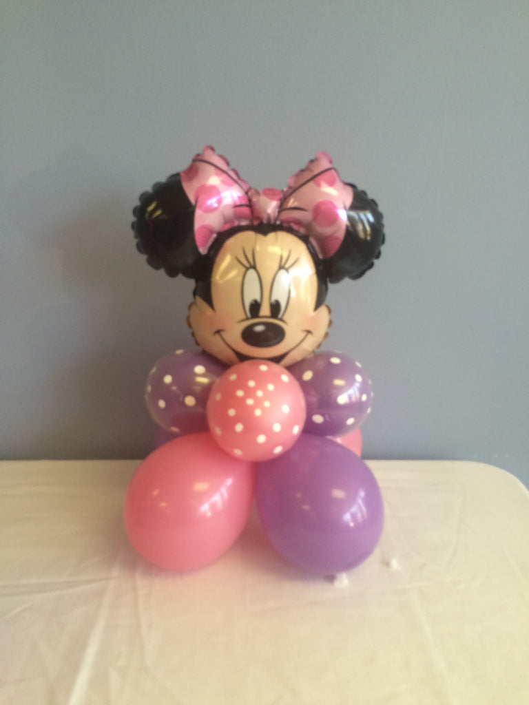 Mickey or Minnie Mouse balloon centerpiece