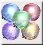 Color Changing Party Dots Party Dots in retail packaging. Labeled Party Dots available. Red, blue, green, white, pink and orange peel and stick LED lights Great in Centerpieces for weddings, parties, birthdays and all occasions
