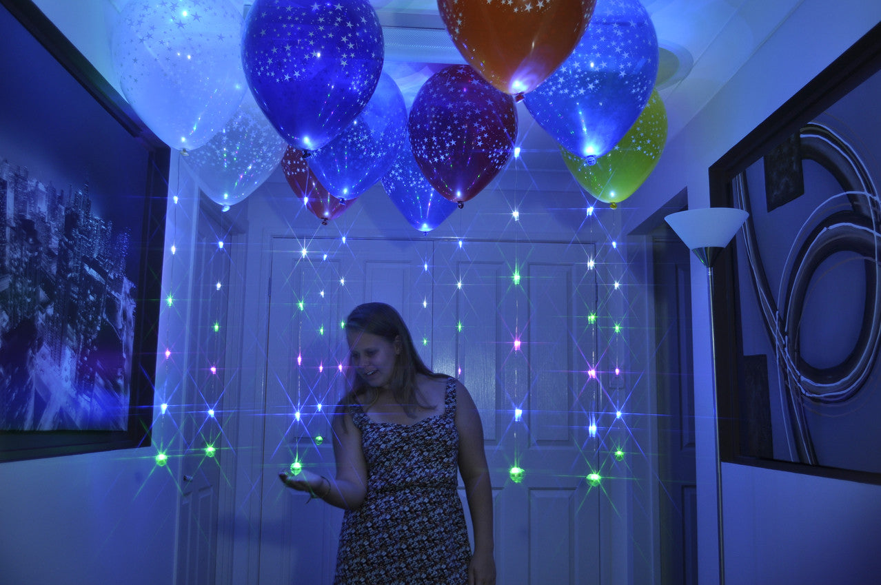 Sparkle Ribbon LED balloon light. Float on 16 inch or larger balloons.