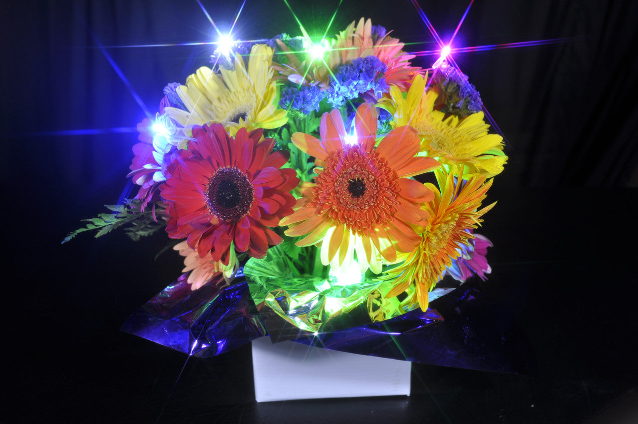 Sparkle Ribbon in flowers, LED floral lighting