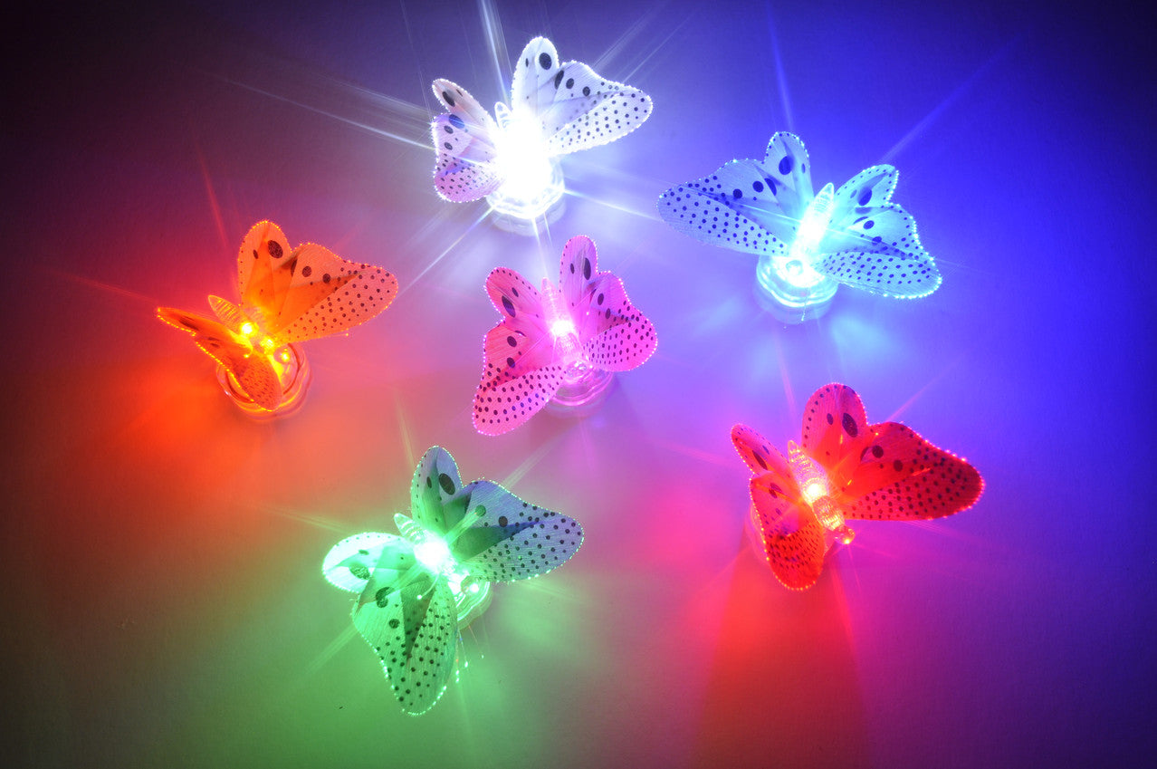 LED light up butterflies.