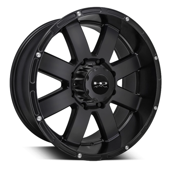 HD Off-Road 8-Point Wheels | All Satin Black