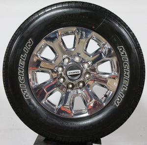 "2020 Ford F250 Platinum 20"" Chrome Wheels, 275/65R20 Michelin, Set of 4, Part# HC3Z1007J"
