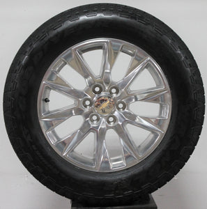 "2019 Chevrolet Silverado 20"" Polished Wheels, 275/60R20 Tires, Set of 4, Part# RD22019"