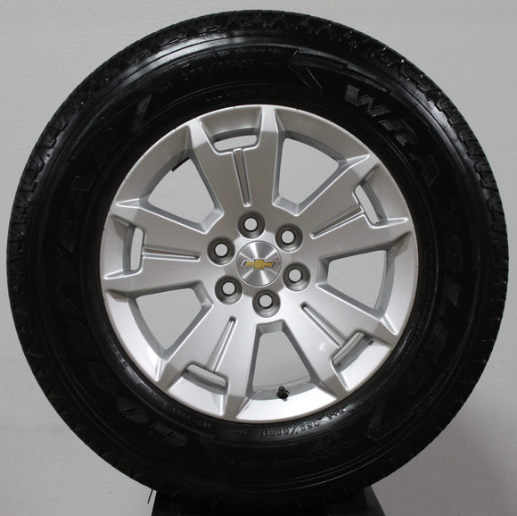 Chevy colorado factory wheels and tires, wheels and tires, silver wheels, 17