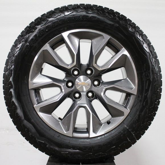 2020 Chevrolet Silverado Grey / Machined Wheels, 275/60R20 A/T Tires, Set of 4, Part# -RD4