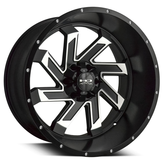 HD Off-Road Wheels SAW | Satin Black with Machined Face