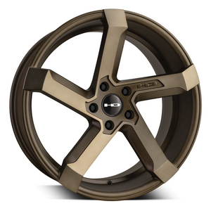 HD Wheels Kink | Satin Bronze Machined Face with Bronze Clear