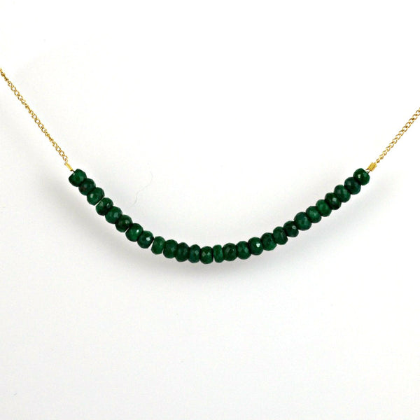 Strand of Emeralds (10k Gold)