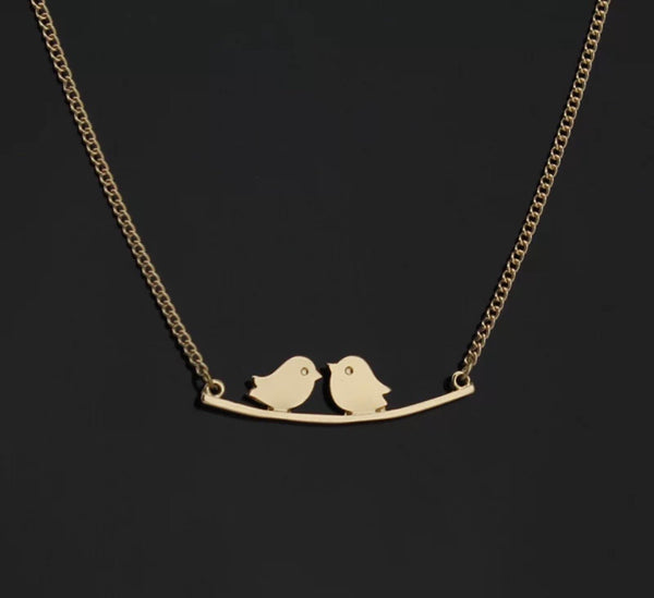Love Bird Gold Plated Necklace
