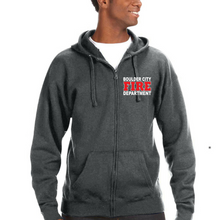 Load image into Gallery viewer, BCFD Premium Heavyweight Off Duty Zip Hoodie By JAmerica