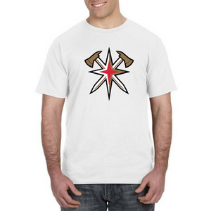 GOLDEN AXES-LV Golden Knights Inspired Firefighter Fan Tee