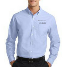 Load image into Gallery viewer, PFFN Port Authority Super Pro Oxford Logo Shirt