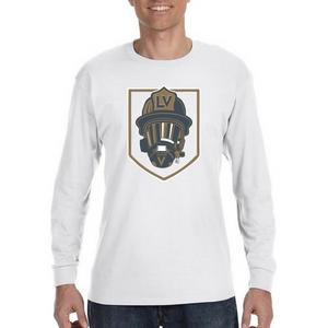 GOLDEN HELMET-LV Golden Knights Firefighter Fan Tee