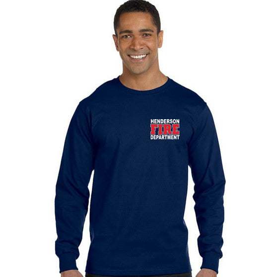 Copy of HFD Gildan Ultra Cotton Longsleeve Duty Shirts BATTALION CHIEF