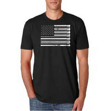 Load image into Gallery viewer, American Firefighter Flag (Black & White)