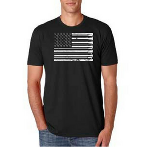 American Firefighter Flag (Black & White)