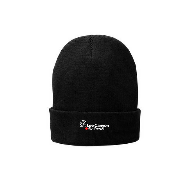 Lee Canyon Ski Patrol Fleece Lined Beanie