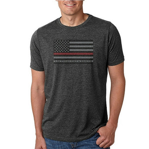 LVFR Thin Red Line Flag Tee