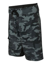 Load image into Gallery viewer, Black Camo/Solid Black Board Shorts