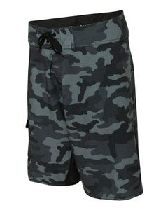 Black Camo/Solid Black Board Shorts