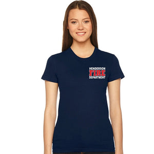 HFD Ladies American Apparel Shortsleeve Duty T-Shirt(2102)