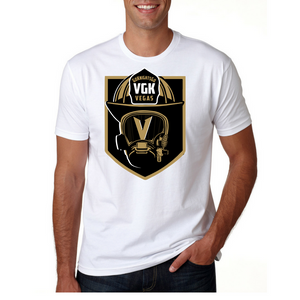 Firefighter Knight- Golden Knights Inspired Firefighter Fan Tee