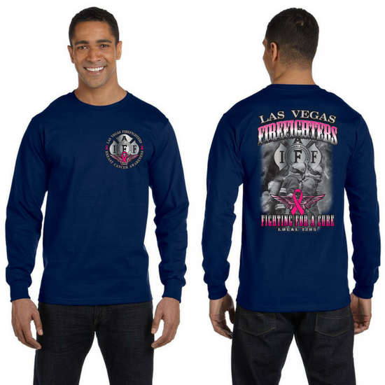 LVFR 2016 Bayside LONGSLEEVE Breast Cancer Awareness Tee