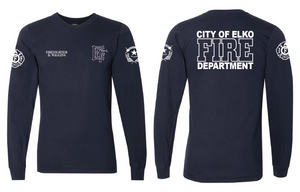 Elko Fire & Rescue LONG SLEEVE American Apparel Duty Tee - 100% Cotton