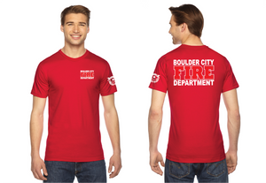 BCFD American Apparel 50/50 Red Shirt Fridays Short Sleeve Duty Tee