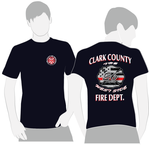 100% Cotton CCFD Station 26 American Apparel Duty Shirts