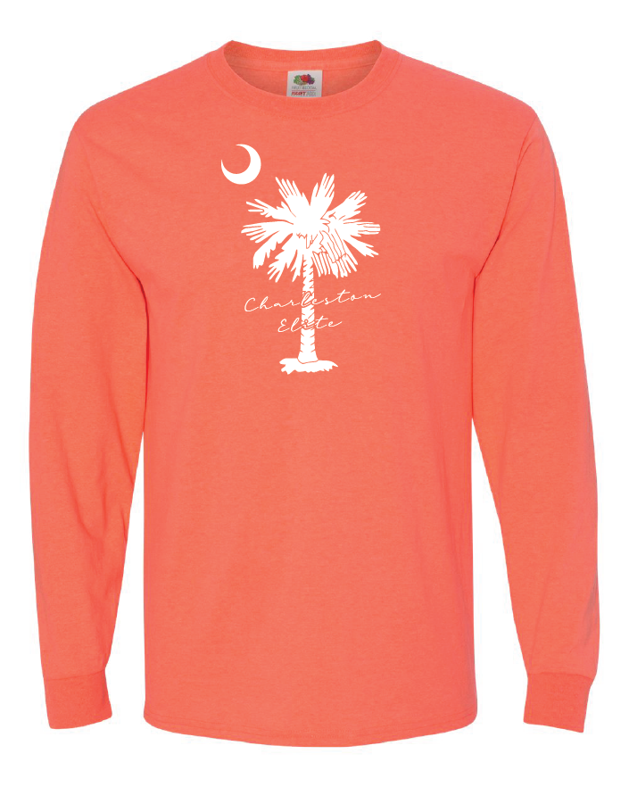 Retro Coral Unisex Long Sleeve Tee - Charleston Elite