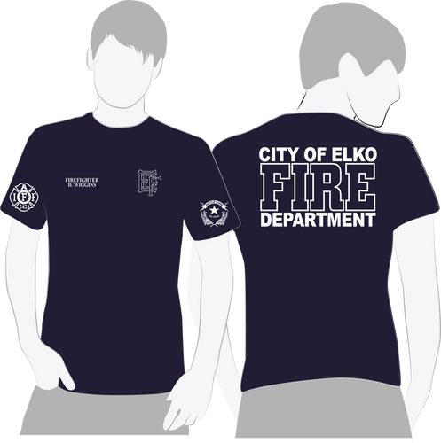 Elko Fire & Rescue American Apparel Duty Tee - 50/50