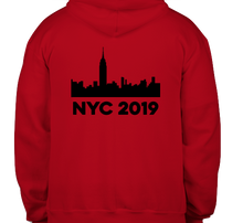 Load image into Gallery viewer, Faith Lutheran Red NY Skyline Hoodie