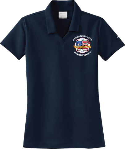 HFD LADIES Short Sleeve 75th Anniversary Polo