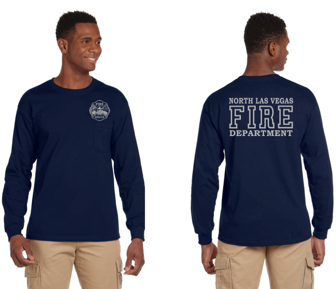 NLVFD  Bayside Long Sleeve  Duty T-Shirt w/ Pocket(8100)