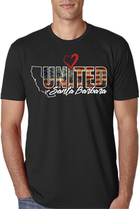 UNITED FOR SANTA BARBARA MENS T-SHIRT