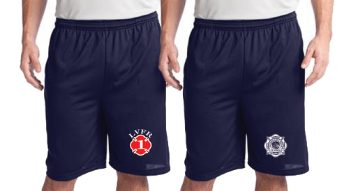 LVFR POCKETED POLYESTER OFF DUTY Workout Shorts