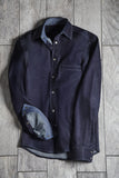 Perfect fit, great style, athletic denim shirt