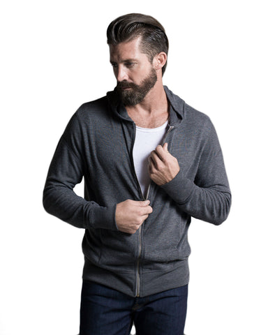Knit Hoodie: Light Gray